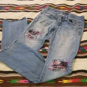 Custom embroidered Guess jeans size 27